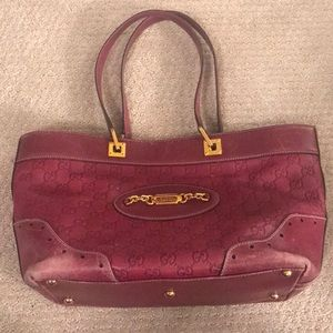 Authentic gucci punch tote (serial # 145993213317)
